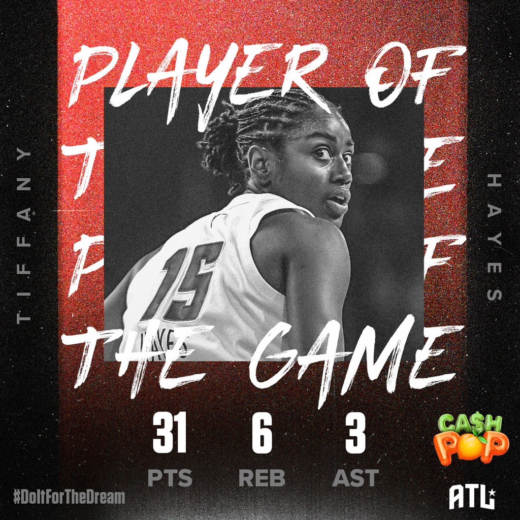 With her third 3️⃣0️⃣ point game of her career, @tiphayes3 is our @GeorgiaLottery Player of the Game!