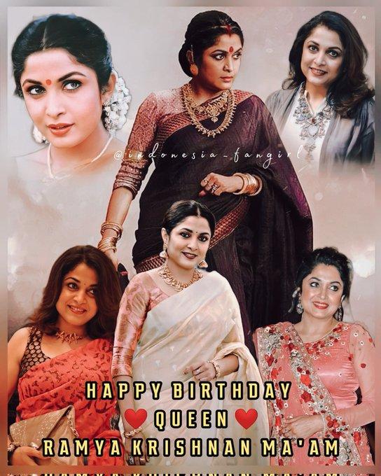 Happy Birthday Queen   Ramya Krishnan Ma\am      Ma\am