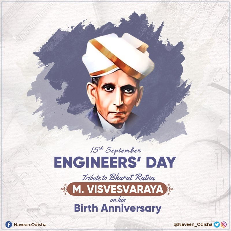 Tributes to legendary engineer Bharat Ratna M. #Visvesvaraya on his birth anniversary, celebrated as #EngineersDay. He was one of the greatest nation-builders & played key role in building many engineering marvels. May his ideals inspire our engineers to build a modern nation. https://t.co/oqcORnJymu