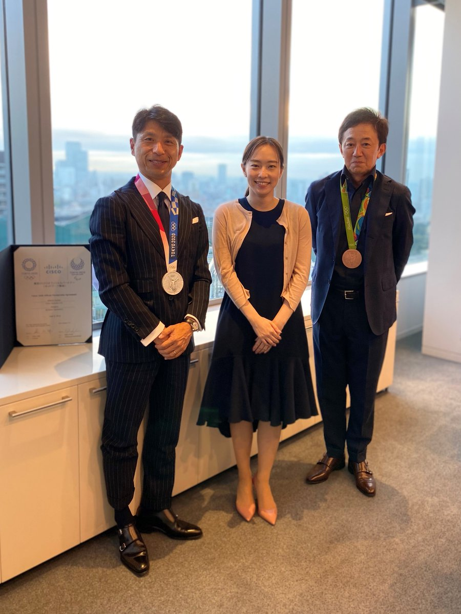 It was so glad to see #Cisco Athlete Ambassadors in person and hear about their experiences. Looking forward to the next time and we are big fan of both of you, #石川佳純 選手& #張本智和 選手🏓 !! #シスコ #TeamKasumi #TeamHarimoto