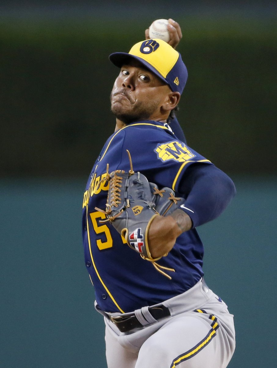 Tuesday was the 9th time this season Freddy Peralta pitched at least 6 innings and allowed 2 or fewer hits. That's tied for the most such games in a single season in MLB history with 2019 Justin Verlander, who won the AL Cy Young Award. h/t @EliasSports