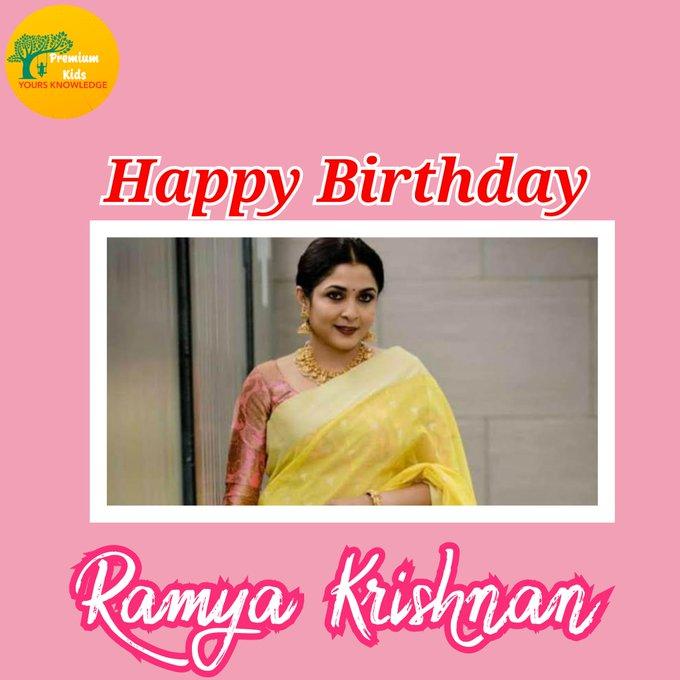 Happy Birthday to you Ramya Krishnan