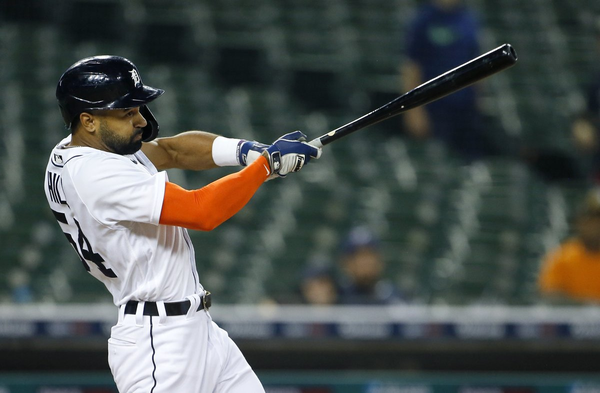Derek Hill records his 1st career walk-off as the Tigers beat the Brewers 1-0. The @tigers have won 12 extra-inning games this season, 2nd in MLB behind the Mariners.
