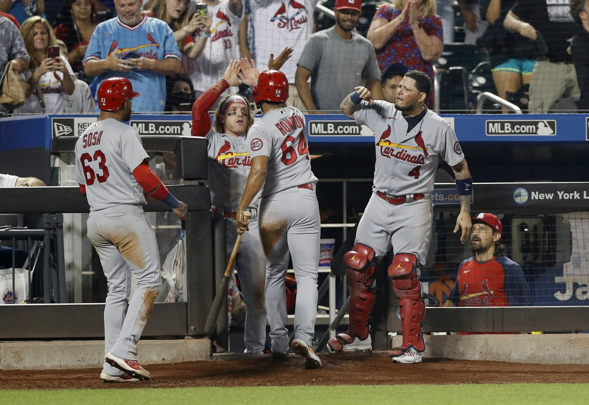The Cardinals currently hold the NL's second Wild Card spot. It's the first time they've held a playoff spot since the end of play on May 30. They've won 6 of their last 7 games.