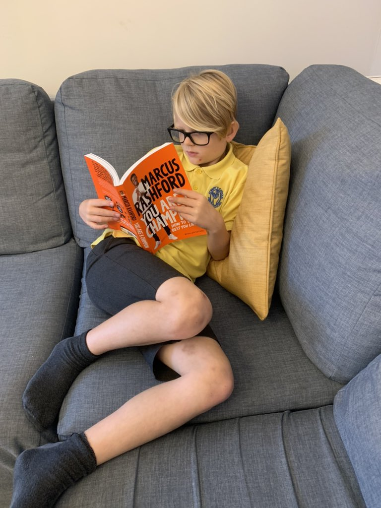 @MarcusRashford My 8year old son George loving your book. It's helping and inspiring him - he can't put it down!