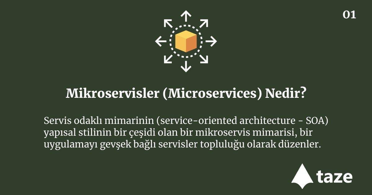 Mikroservisler (Microservices) Nedir? Servis odaklı mimarinin (service-oriented architecture - SOA) yapısal stilinin bir çeşidi olan bir mikroservis mimarisi, bir uygulamayı gevşek bağlı servisler topluluğu olarak düzenler.