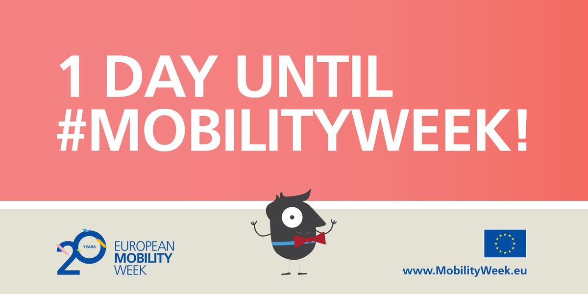 """Morgen startet die 🇪🇺 #Mobilitätswoche - dieses Jahr unter dem Motto """"Safe and Healthy with Sustainable #Mobility"""". Auch in 🇩🇪 Kommunen gibt es wieder viele Aktionen zu nachhaltiger #Mobilität. Was bei Ihnen los ist, erfahren Sie hier: https://t.co/T58MzfnKeN #MobilityWeek"""