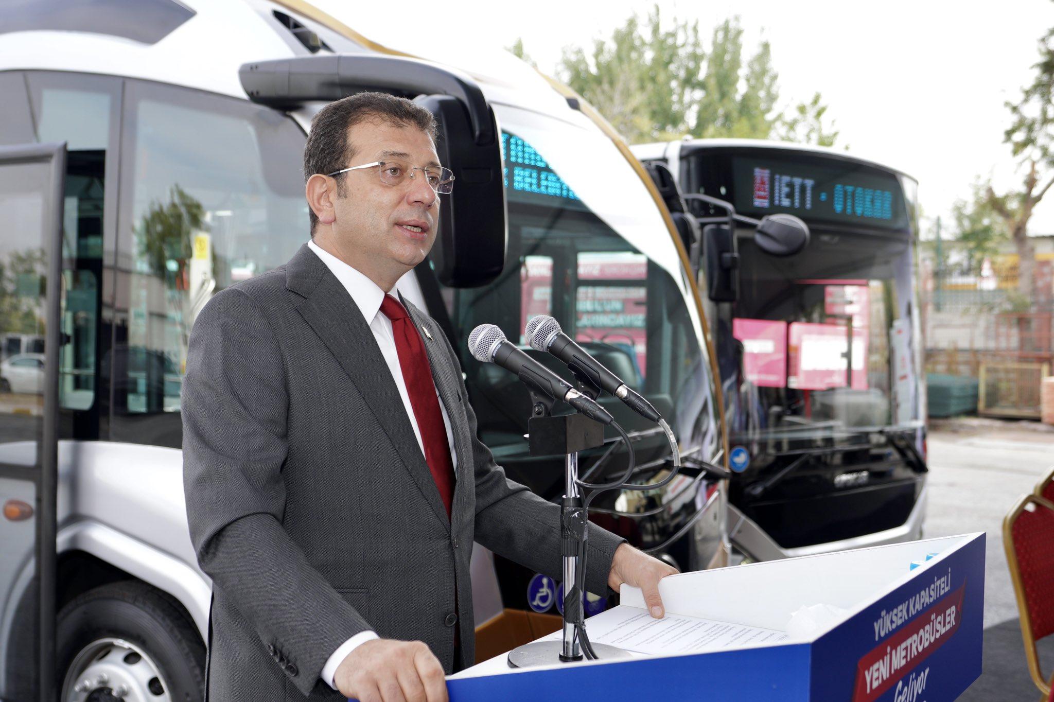 İmamoğlu, 160 yeni otobüsün Mart-Mayıs 2022'de İstanbul metrobüs filosuna katılacağını açıkladı
