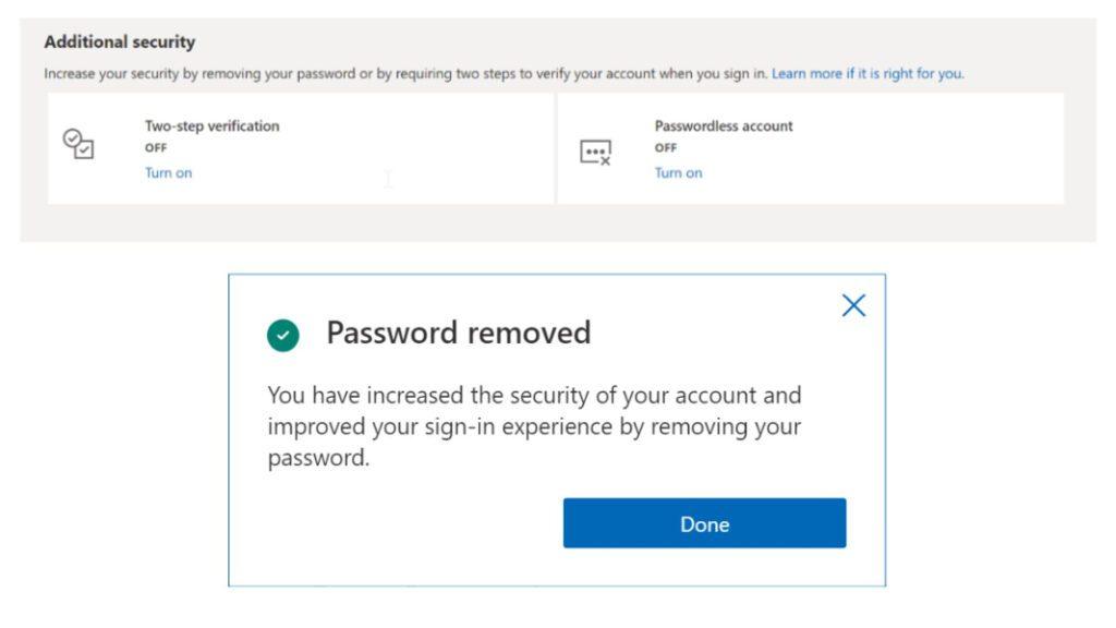 Microsoft Account Goes Passwordless