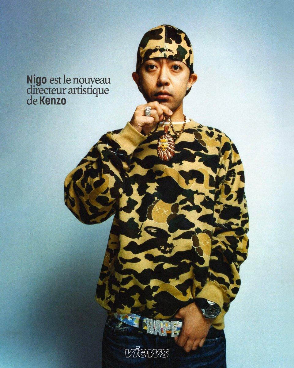RT @views_mag: Nigo, créateur de BAPE et véritable légende du streetwear, vient d'être nommé à la tête de Kenzo 👏 https://t.co/9iEOma2L0L