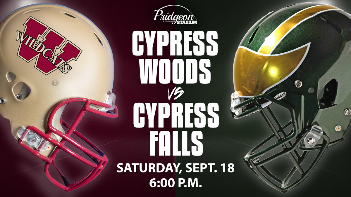 Can't wait to watch @CyWoods212 and @cyfallshs this Saturday! Pictures to come! #CFISDspirit #txhsfb 🏈