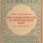 """Cover of """"Three lectures about the new art"""", 1919 #artnouveau #theovandoesburg"""