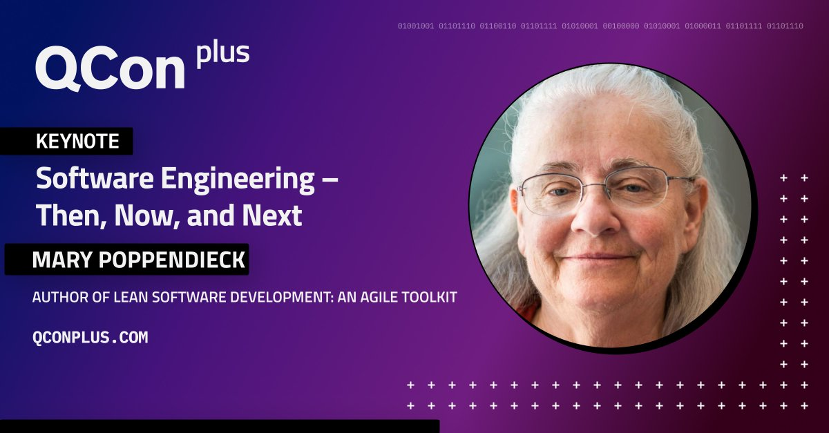 Explore how #software engineering has been changed by the scale and speed required of digital companies in the past, now, and in the future. Attend the #QConPlus keynote by @mpoppendieck. Find out more: bit.ly/3EjgCeD  #Development #SoftwareEngineering #Technology