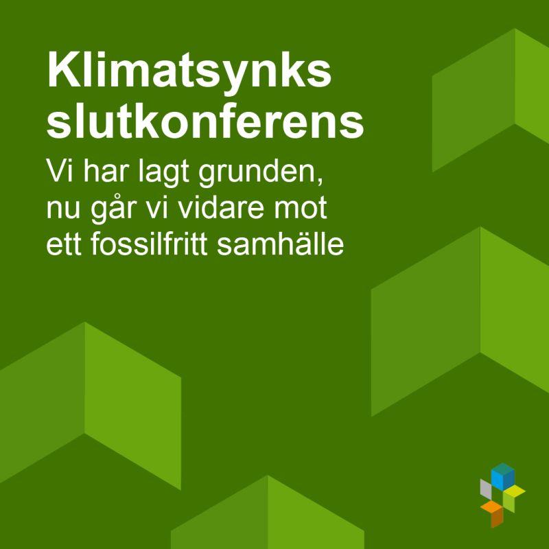 Klimatsynk avslutas men arbetet med omställningen fortsätter. Det är dags att summera, reflektera och gå vidare. Varmt välkommen till Klimatsynks slutkonferens den 22 september klockan 10.00: https://t.co/vz4T3gR1le https://t.co/CD01jKlnjU