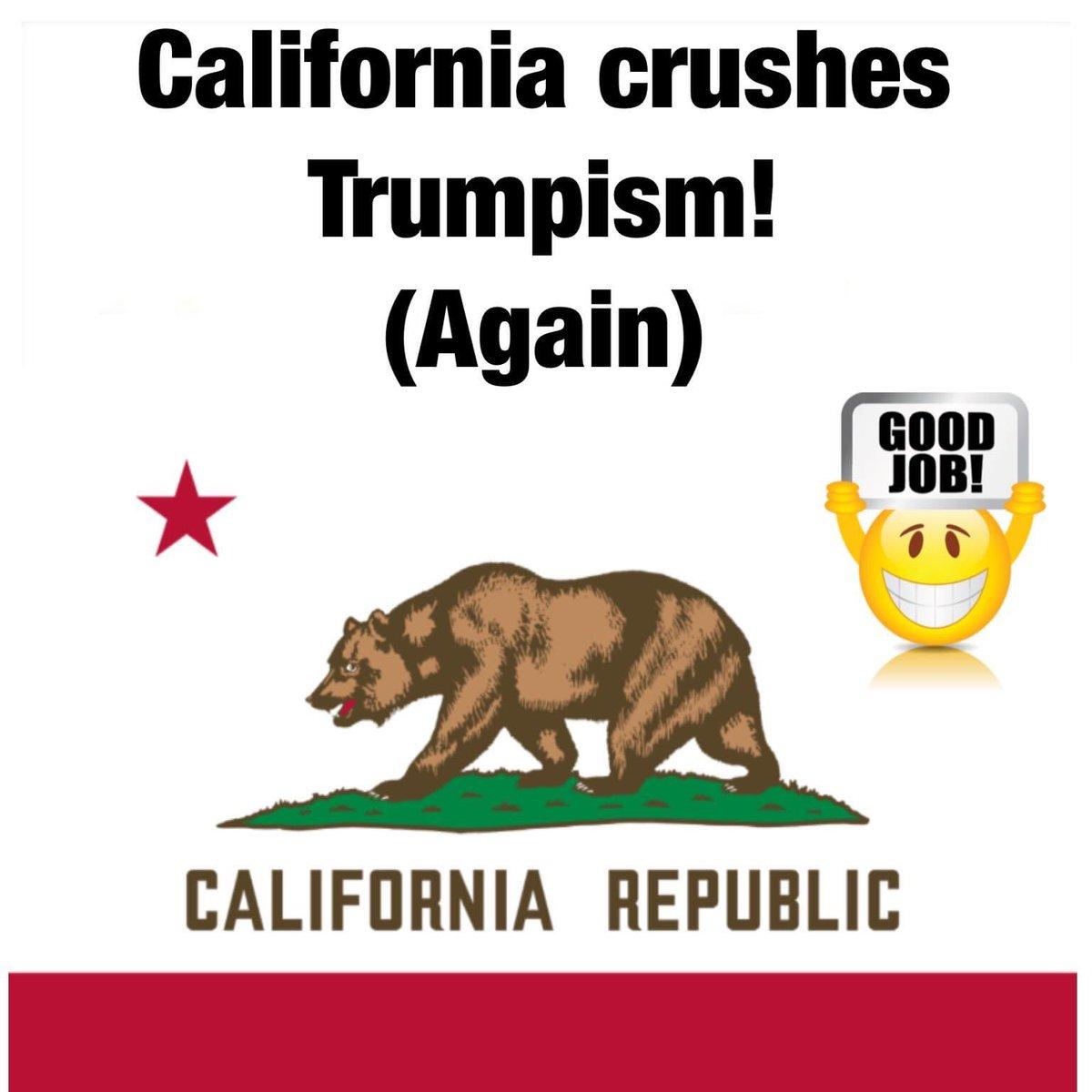 California, job well done.  🇺🇸  #NewsomWins