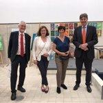 Image for the Tweet beginning: Dziś Bente Kahan prezentowała Ambasadorowi