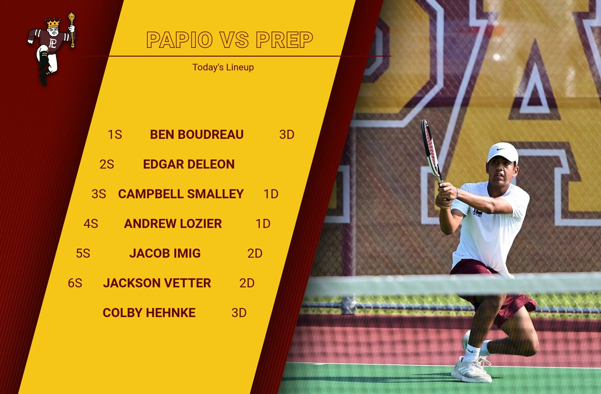 Papio falls to Prep but we're back in action tomorrow at the Millard North invite #WeArePLV