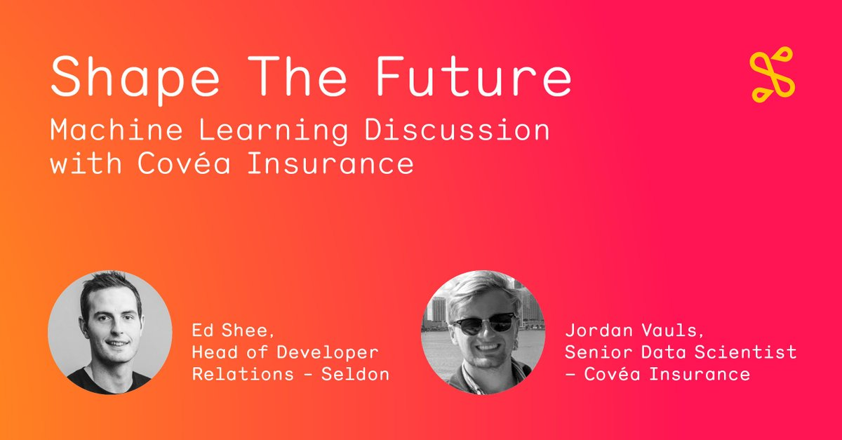 Join us for our latest webinar with Jordan Vauls, Senior Data Scientist at Covéa Insurance and @ukcloudman, Head of Developer Relations at Seldon, where we will be discussing how machine learning is used in the insurance industry. Register now: buff.ly/3Ceo2Ol