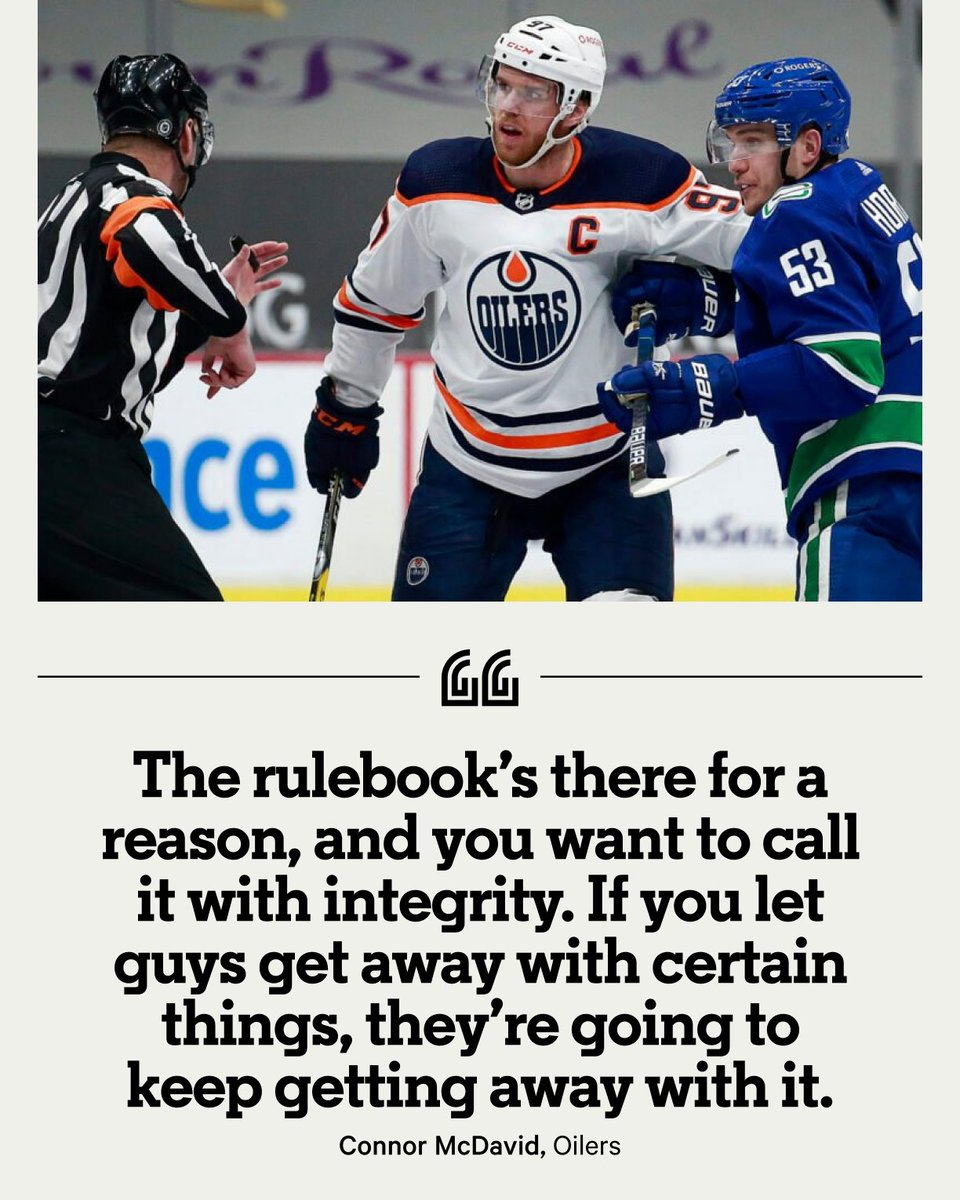 Few draw penalties the way Connor McDavid does, but he infamously couldn't draw a penalty in the playoffs as the Oilers were swept by the Jets. Now, the two-time Hart Trophy winner is asking for consistency from NHL referees. ✍️ @DNBsports 📚 bit.ly/3995AKt