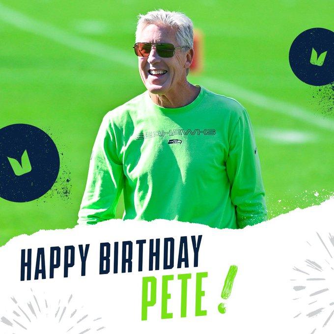 Happy 70th birthday to Pete Carroll