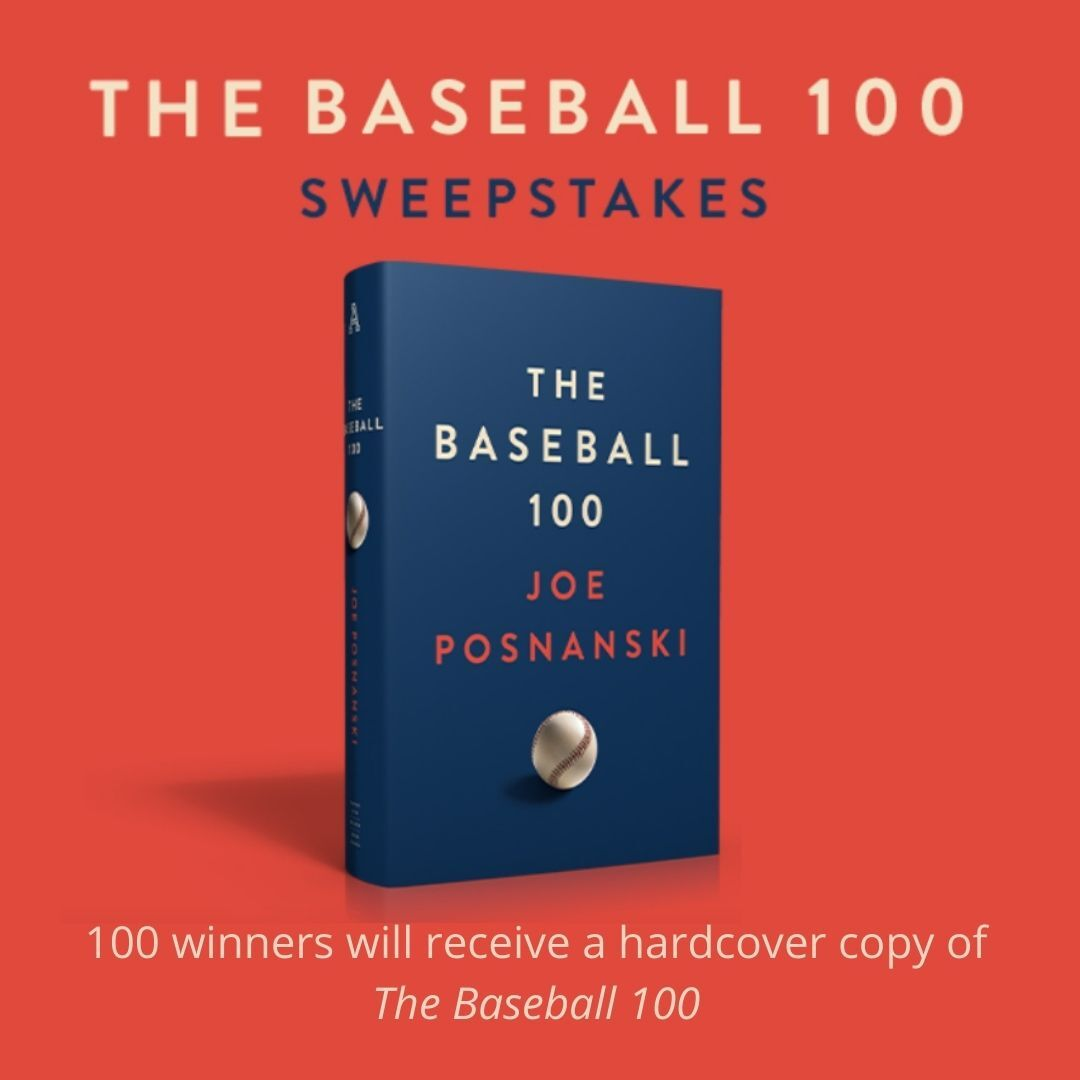 GIVEAWAY – #TheBaseball100, @JPosnanski's magnum opus celebrating the greatest players in history, is coming from @AvidReaderPress and The Athletic! You could win a hardcover copy ahead of its release date. Follow @TheAthletic on Twitter and enter here: simonandschuster.com/p/baseball-100…