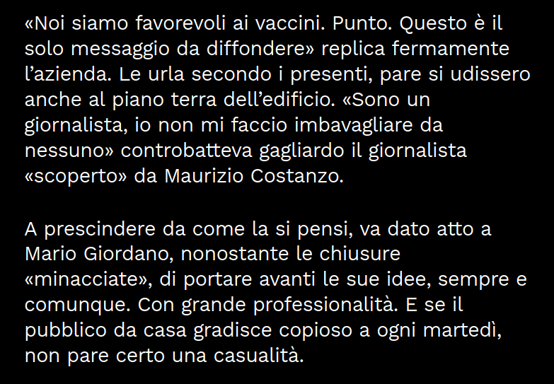 Mario Giordano Twitter