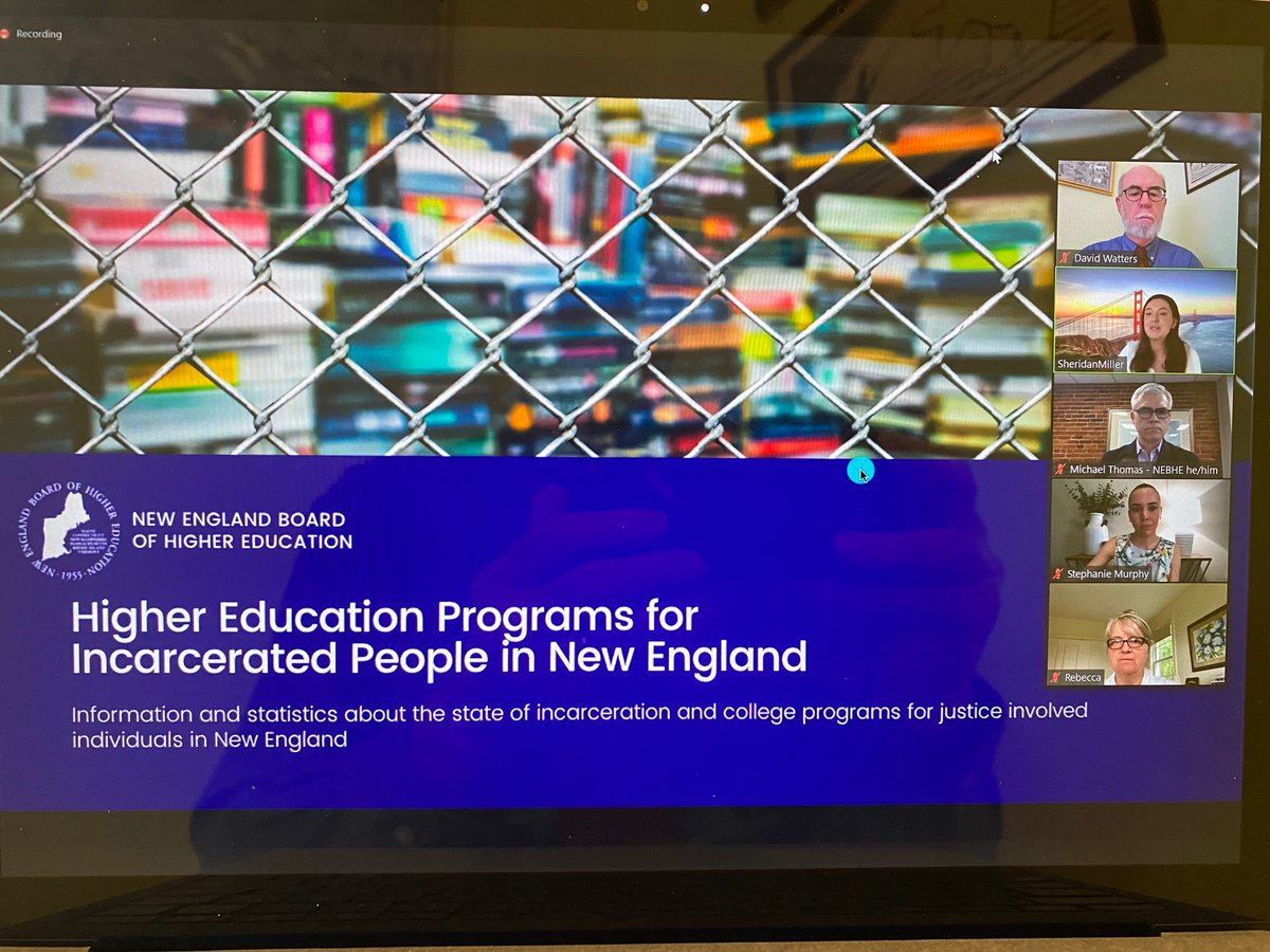 Many thanks to all who helped facilitate yesterday's LAC about all the reasons we should work to expand #highered for the #incarcerated in #newengland & beyond, including our chairs @SenDavidWatters & Rep. Rebecca Millett & our fantastic panel @TEJI_MIT & @JLeequon !