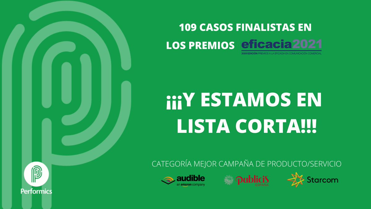 test Twitter Media - Por primera vez en nuestra historia somos finalistas en los #PremiosEFI organizados por la @aeanunciantes y @SCOPEN_es  y ¡no podemos estar más contentos! 👏🏼👏🏼👏🏼  ⭐️ CATEGORÍA MEJOR CAMPAÑA DE PRODUCTO/SERVICIO  @StarcomSpain @Publicis_Spain @Audible_ES https://t.co/z21rU5oPWT