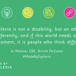 Image for the Tweet beginning: If you're #Madebydyslexia you're one