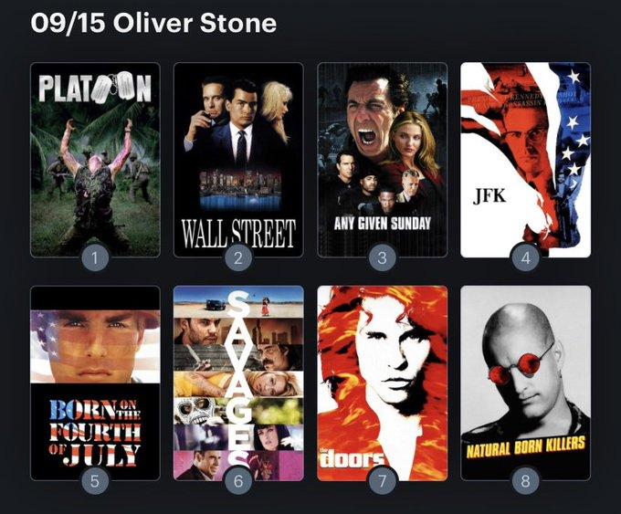 Hoy cumple años el director Oliver Stone (75). Happy Birthday ! Aquí mi ranking: