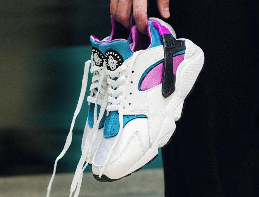 Few sizes via Footlocker Nike Air Huarache 'Aquatone' =