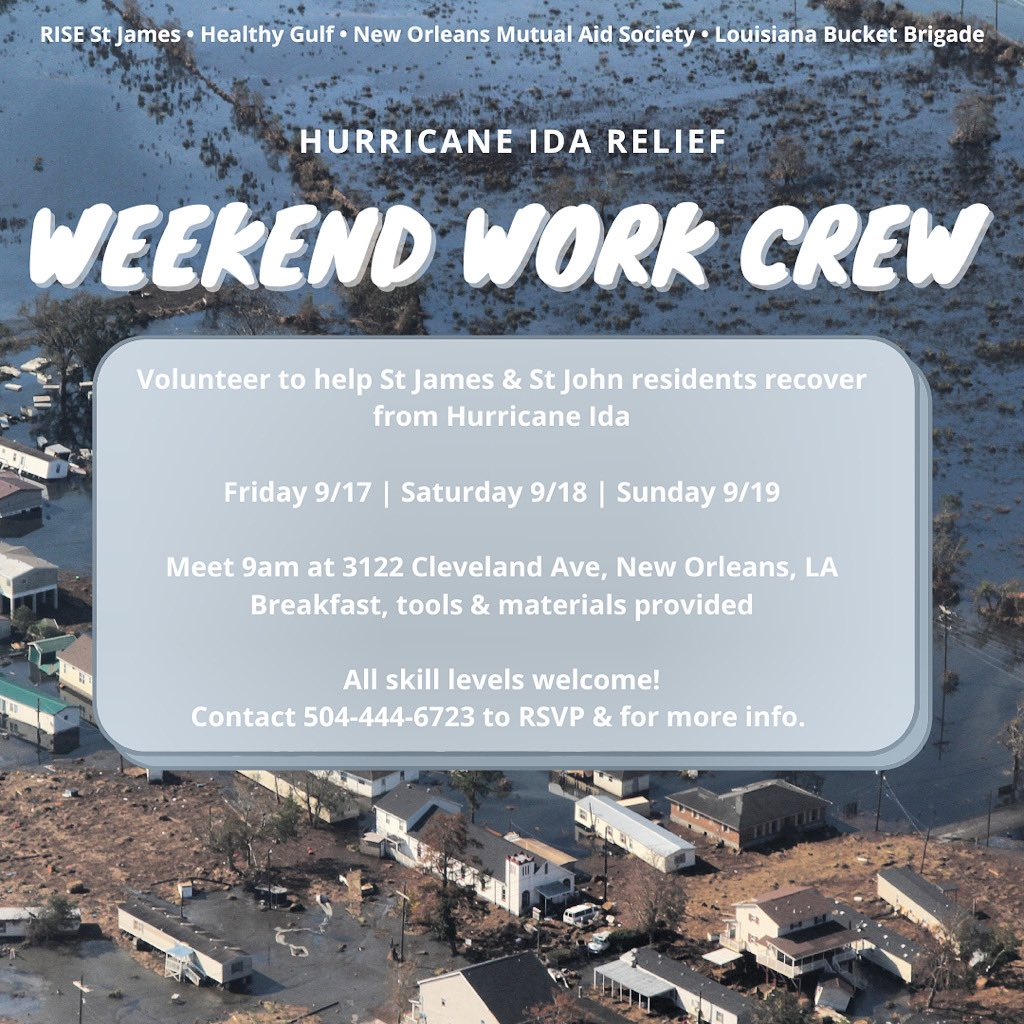 NEW ORLEANS: Have an open schedule tomorrow? Help out our River Parishes neighbors! Labor is the biggest need right now!