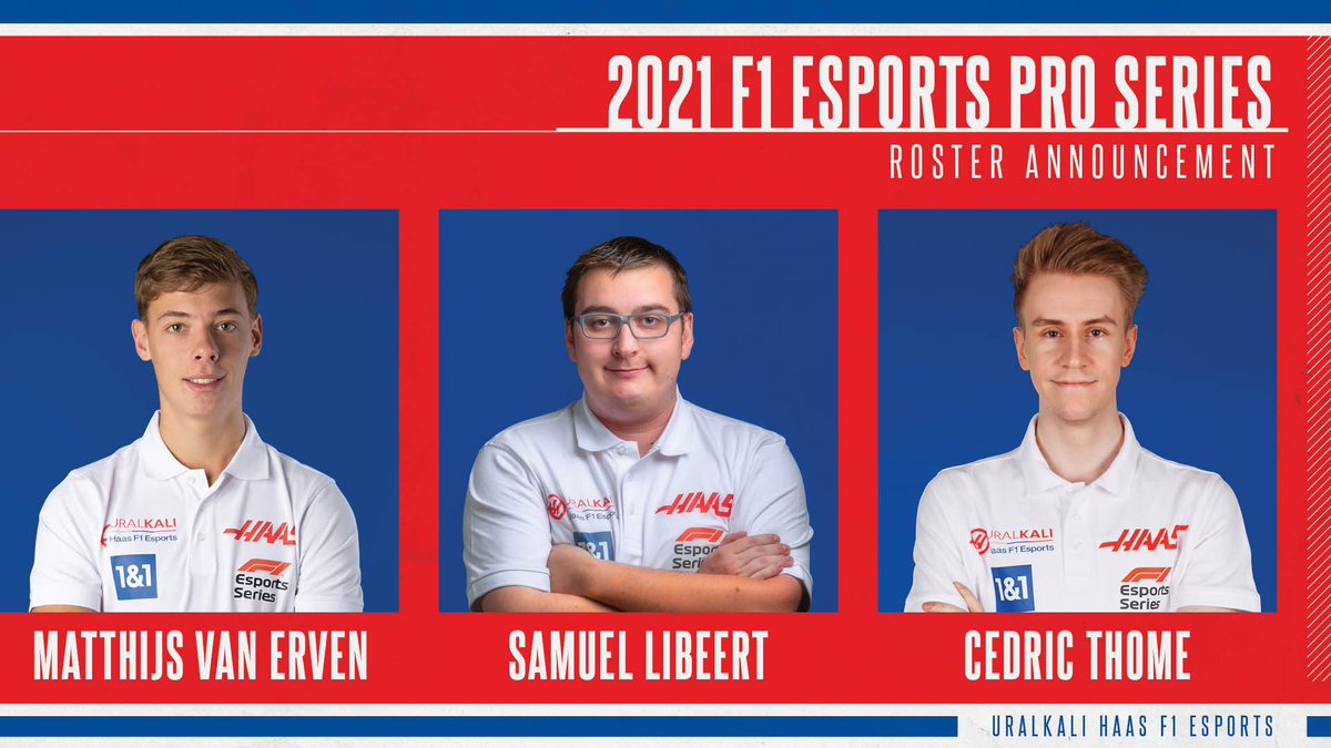 Very happy to represent @HaasF1Team in @F1 Esports Series Pro Championship! @r8gesports will do his best and even more to face this brand new challenge! Let's go @SamuelLibeert @CRG_Evo @MatthijsvErven #HaasF1esports #F1Esports