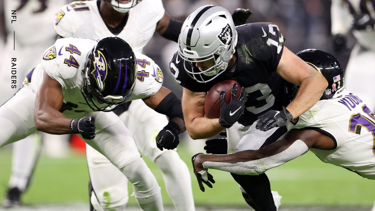 The Raiders have filed a complaint with the NFL regarding dirty hits on receiver Hunter Renfrow on Monday night against the Ravens, according to @VicTafur The Raiders compiled a video of several hits after the play and away from the ball.