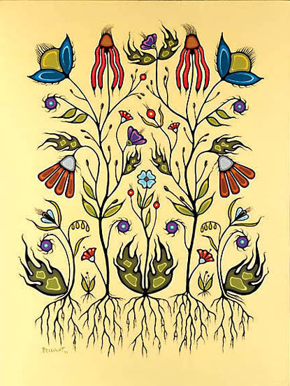 Resilience of the Flower Beadwork People Christi Belcourt 1999