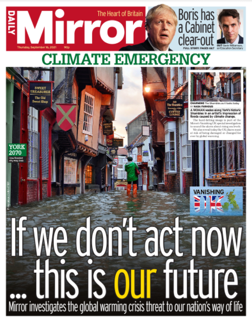 Tomorrow's front page: If we don't act now - this is our future #tomorrowspaperstoday