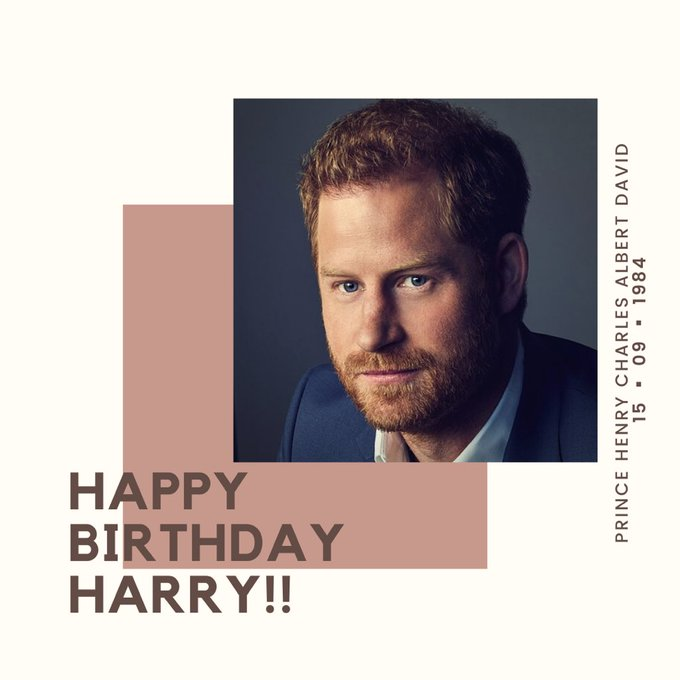 Happy 37th Birthday   to Prince Harry, Duke of Sussex!