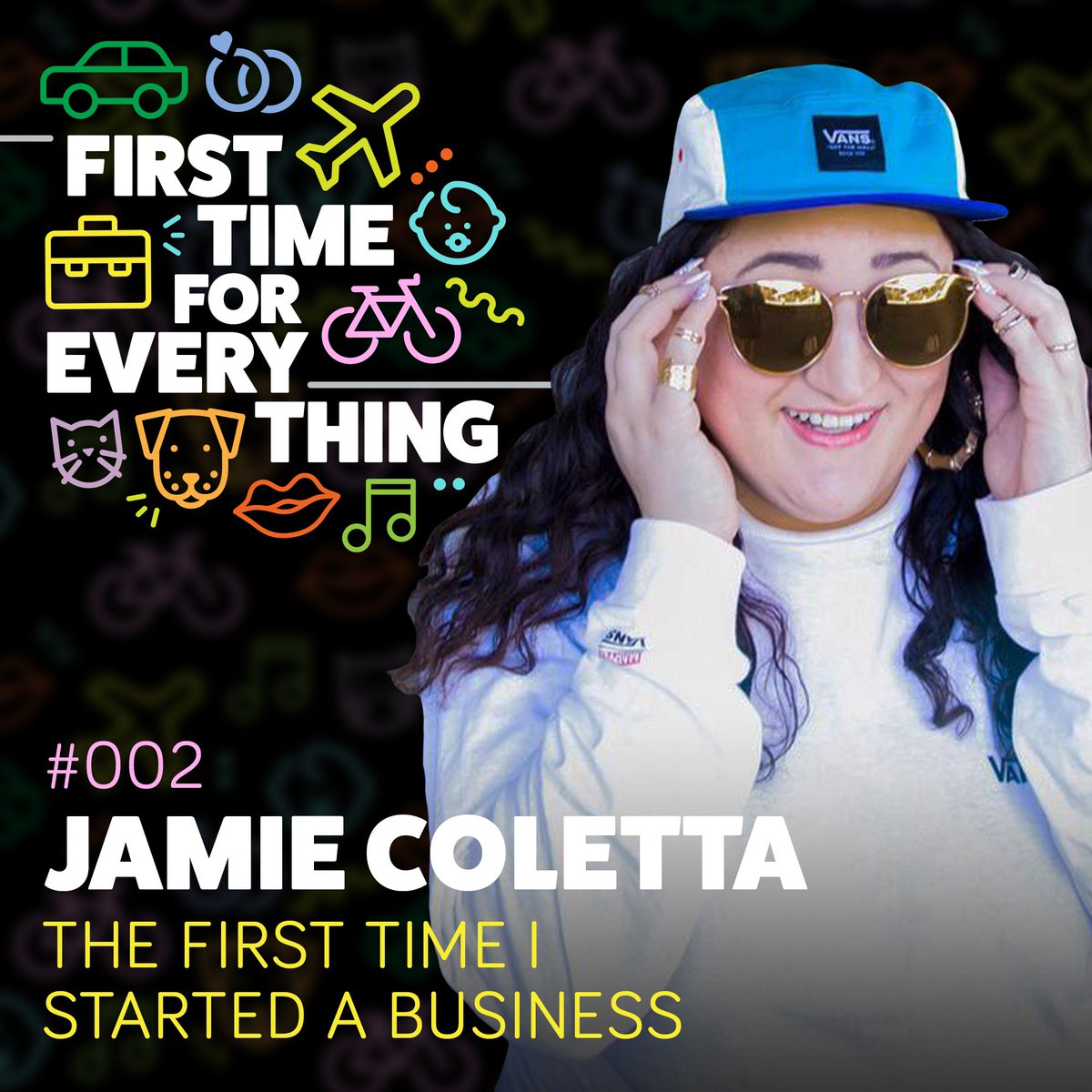 Ep 2 of #FirstTimeForEverything has arrived, featuring @NOEARBUDS founder @jamiecoletta!  Join us as we discuss the music industry, starting a business, emo, and never having to answer to an old white guy again...  podfollow.com/ftfe