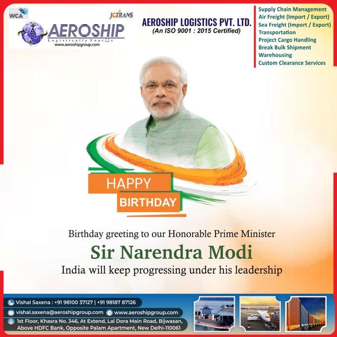 Happy Birthday to our beloved prime minister shri Narendra Modi ji