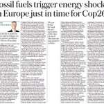 """Ambrose Evans-Pritchard in Daily Telegraph:  """"Britain needs to push for net zero and not blame its current power problems on the breeze dropping""""  https://t.co/JxFmrK8WGP"""
