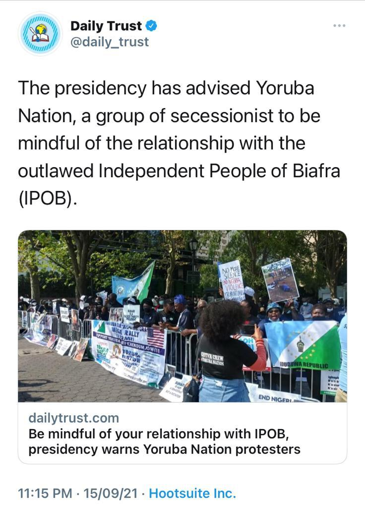 Fools everywhere gutter media, everyone in the presidency are terrorists, writing junk outlawed mad people everywhere do they think this is 1960 idiots zoological republic of Niggeria #zoo