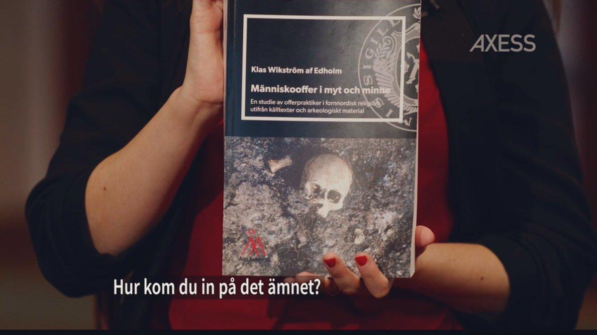 Intervju med ÅA-forskaren Klas Wikström af Edholm om hans avhandling Människooffer i myt och minne.