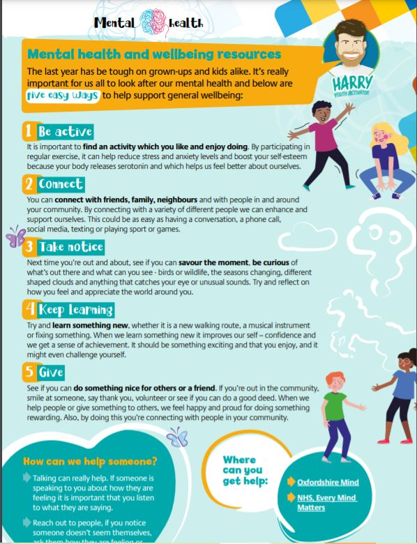 We know that the last year has been incredibly tough on our children & young people. As we return, it is crucial that we all look after both our own & others mental health and wellbeing. Our partners FAST have this helpful infographic (scroll down on link) https://t.co/lpdomUhUMA