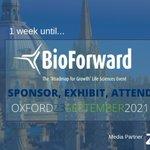 Image for the Tweet beginning: Only 1 week until @BioForwardUK!  Join