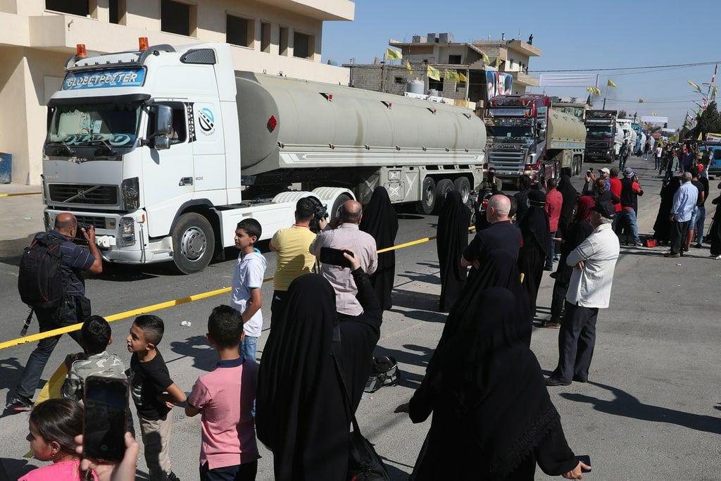 Trucks carrying Iranian fuel arrive in Lebanon