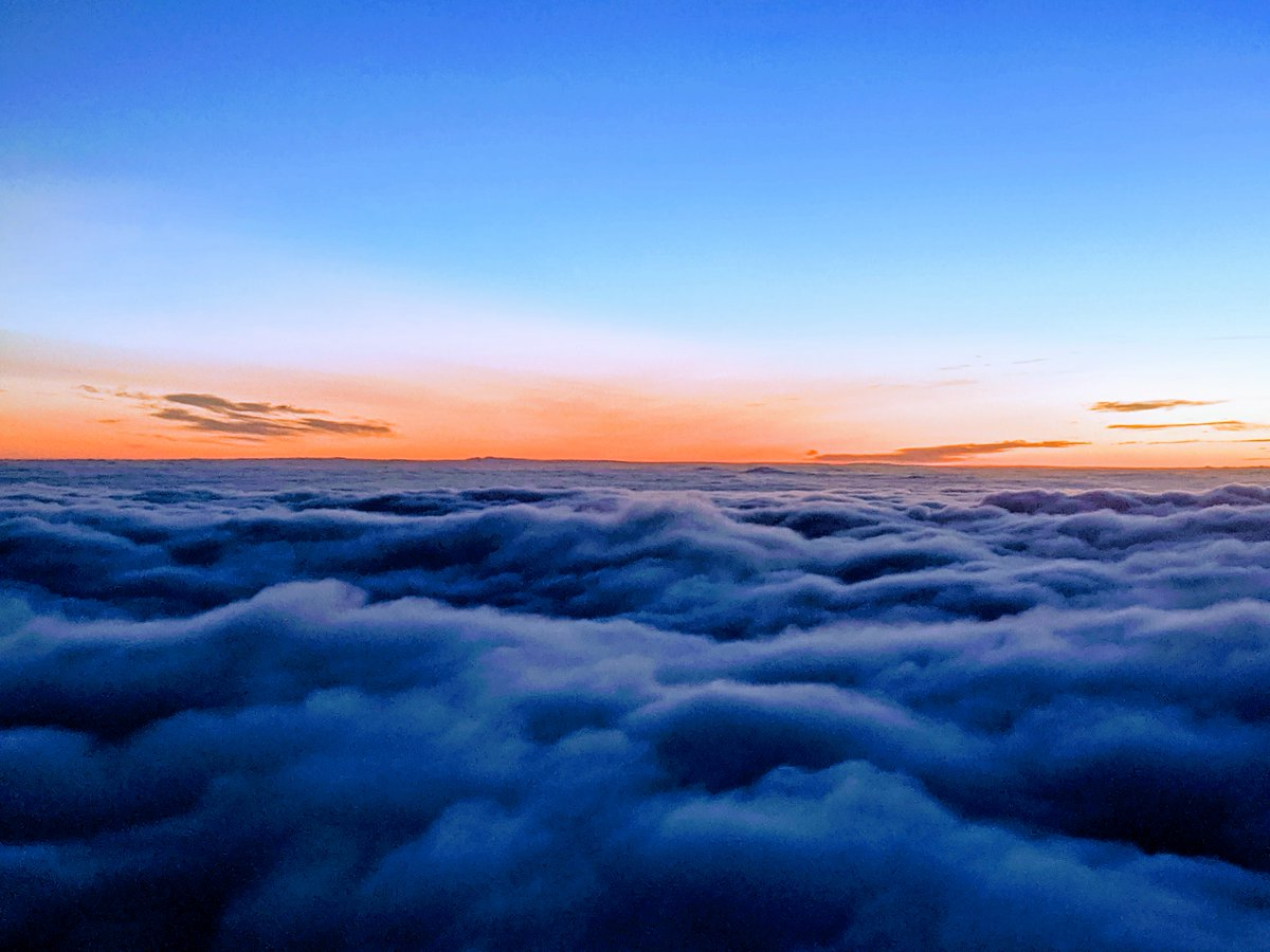 Morning sky above London