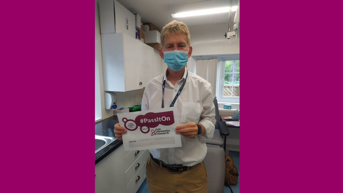 Research can indeed change lives! Thank you Myles Howard @NIHR_kss for sharing this picture and saying why you think it's important to sign up and #PassItOn about Join Dementia Research this #WorldAlzMonth