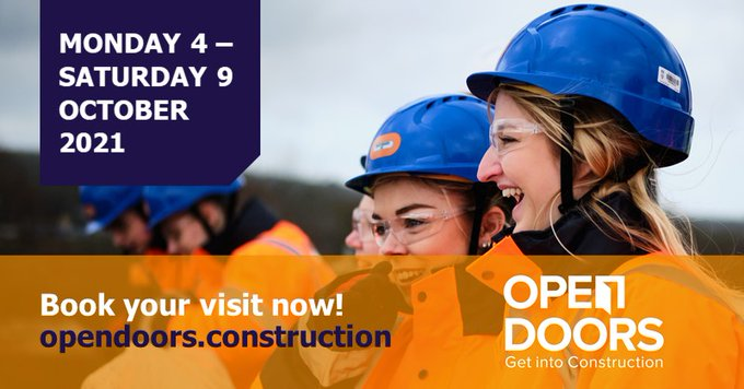 Some of our partner organisations, including @WillmottDixon, @WatesGroup and @isglimited, are participating in this year's @OpenDoorsWeek. This is a great opportunity to get behind the scenes on major sites in London and across the UK. Sign up https://t.co/JW411usZPL @BuildUK
