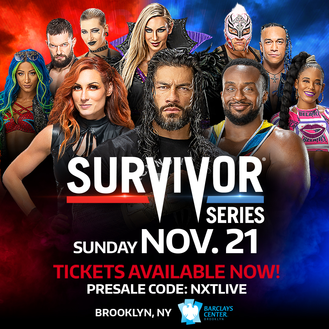 Don't miss #SurvivorSeries in Brooklyn, NY. Tickets available now. Use presale code: NXTLIVE https://t.co/AvHqjfNreq https://t.co/9Yd1NQPh7c