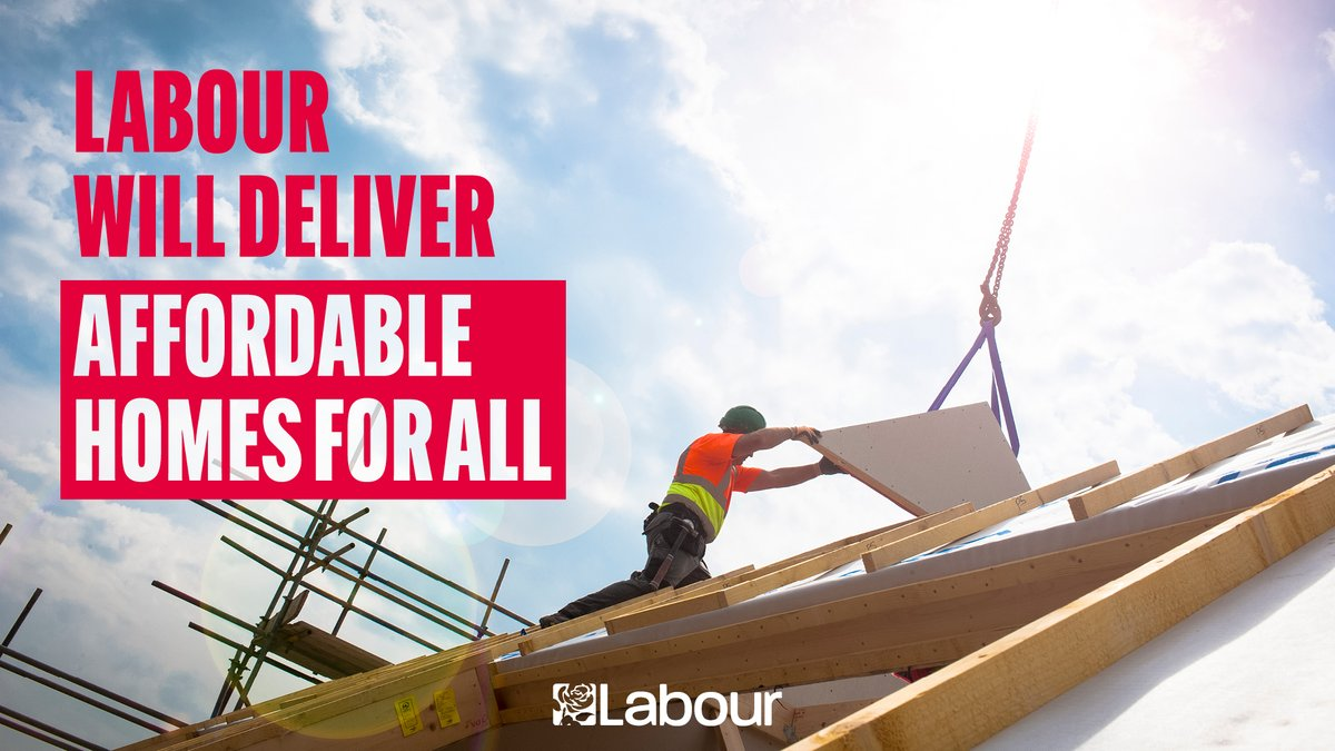 Labour will focus on affordable, secure, safe housing. We'd make sure first-time buyers get first dibs on new homes, not investors. And we'd give councils the power to deliver housing their communities need - not what makes developers most profit.